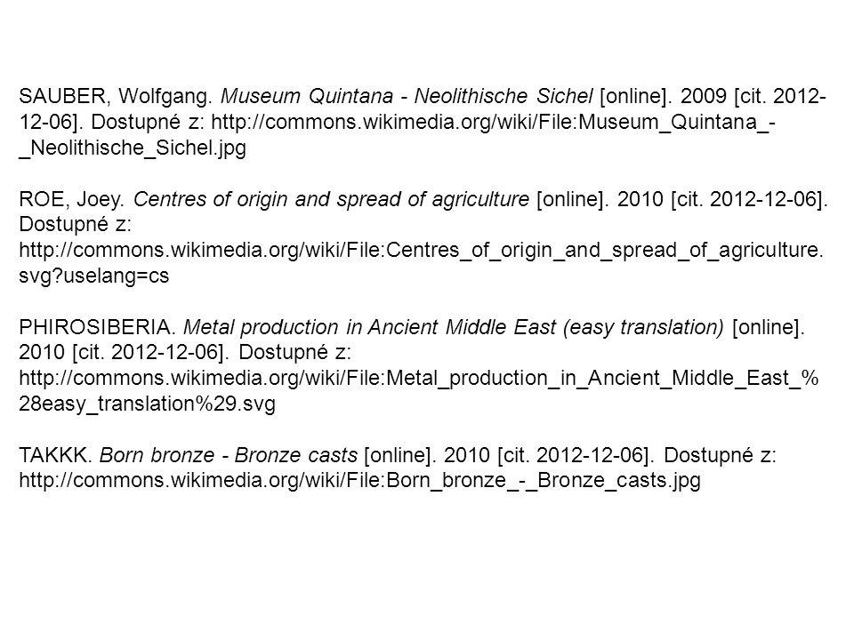 SAUBER, Wolfgang. Museum Quintana - Neolithische Sichel [online]
